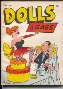 Dolls & Gags 6/1958-wedding cake prank cover-spicy cartoons-Gags-VG