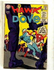 The Hawk & The Dove # 4 VG DC Comic Book Silver Age Gil Kane Art J462