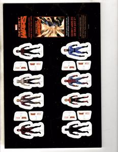 Secret Wars 8 Count Standee Set Unpunched On Card Marvel Comics Promo Item MK2