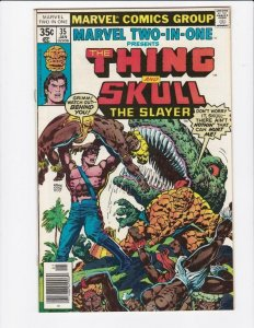 MARVEL TWO-IN-ONE #35, VF, The Thing, Skull, 1974 1978  more in store