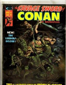 5 Marvel Comics Magazines Savage Sword Conan # 7 + Savage Tales # 6 7 8 10 RS3