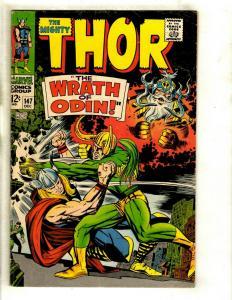 Thor # 147 FN Marvel Comic Book Loki Odin Sif Avengers Hulk Iron Man GK4