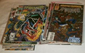 Spider-Man V1 #7-94 (incomp.) 1990 McFarlane, Romita Jr., comic book lot of 41