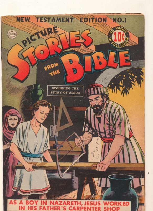 Picture Stories from the Bible: New Testament Edition #1, Good+ (Actual scan)