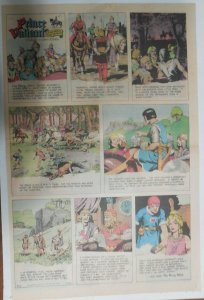 Prince Valiant Sunday #1702 by Hal Foster from 9/21/1969 Rare Full Page Size !