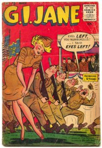 G.I. Jane #11 1954- LAST ISSUE- Rare spicy good girl art humor comic