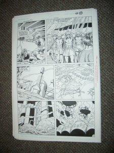 CURT SWAN ORIGINAL ART-AQUAMAN #3 PAGE 17-ALIENS-1989 FN