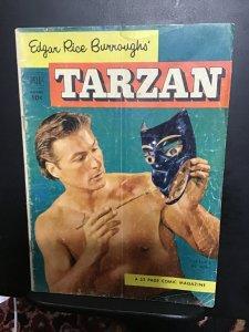 Tarzan #37 (1952) Rare Baker photo cover key issue! VG+ Wow!