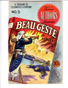 Famous Authors Illustrated, Stories By #5 (Oct-50) VG/FN Mid-Grade Beau Geste