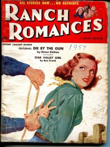 Ranch Romances #2 1/1954-Thrilling-bondage cover-Elmer kelton story-VG