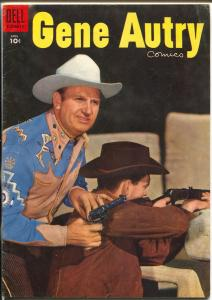 Gene Autry #98 1955 -Dell-photo cover-B-Movie western film star-FN