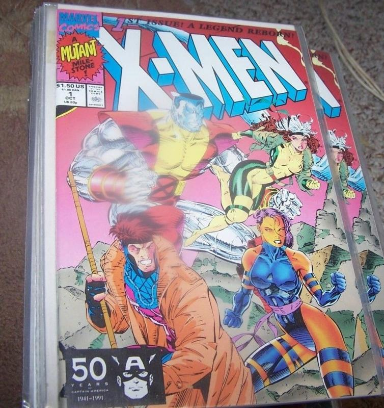X Men comic  # 1 (Oct 1991, Marvel)  gambit, rogue psylocke colossus cover