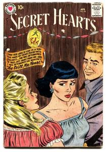 SECRET HEARTS #46 comic book 1958-DC ROMANCE G