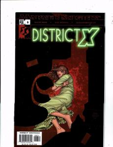 Lot of 5 District X Marvel Comic Books #6 7 8 9 10 BF2