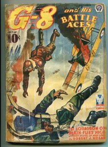 G-8 AND HIS BATTLE ACES 12/1942-WEIRD MENACE-HORROR-WAR-good
