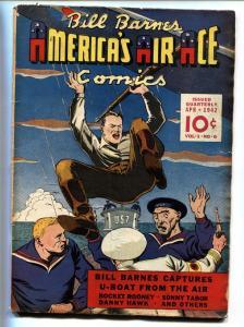 BILL BARNES AMERICA'S AIR ACE #6-1942-WWII Nazi cover-Golden-Age