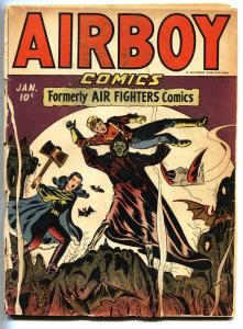 Airboy Vol 2 #12 1946-Hillman-Horror cover-Bondage-comic book