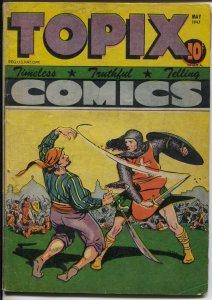 Topix Vol. 5 #8 1947-Crusader vs pirate-King of Kings Part 2-VG