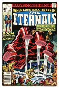 THE ETERNALS #10 comic book Jack Kirby-Comic Book Marvel 1976 VF