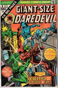 Giant Size Daredevil # 1 The Emissaries of Evil !!!