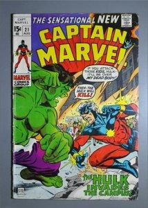 Captain Marvel (1968) #21  VG/Better