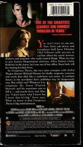 Conspiracy Theory VHS  Mel Gibson !  Patrick Stewart ! Julia Roberts !