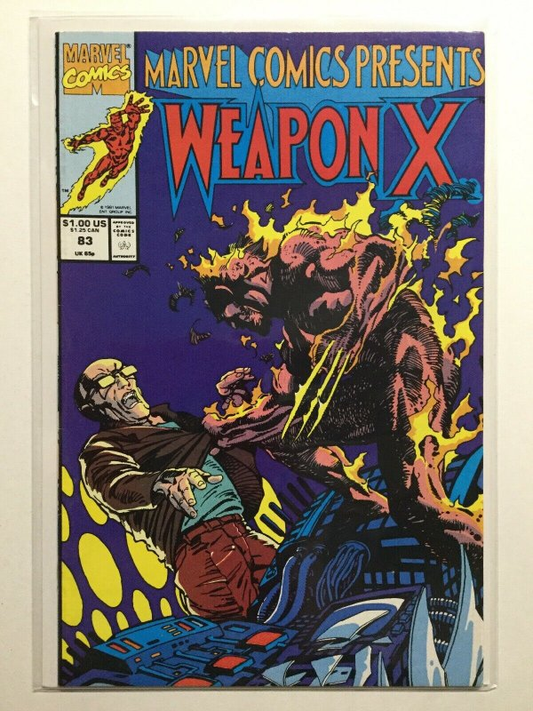 Marvel Comics Presents 83 Near Mint Nm Weapon X Marvel