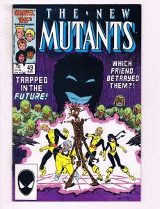 The New Mutants #49 VF Marvel Comics Comic Book X-Men DE15