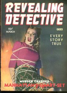 REVEALING DETECTIVE MAR 1944-CRIME-PULP-MAGAZINE-BABE TIED UP AND TERRIFIED! VG