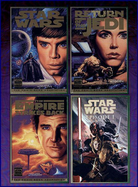 STAR WARS THE MOVIES HILDEBRANDT TRADE SET+1 classic incarnation
