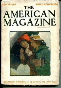 American 3/1907-Ida Tarbell-Horace Greeley-classic illustrations-pulp format-VG
