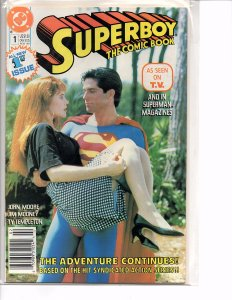 DC Comics (1990) Superboy The Comic Book #1 Photo Cover Gerard Christopher