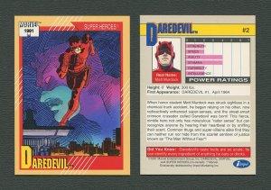 1991 Marvel Comics II  Card  #2 (Daredevil)  MINT