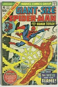 GIANT-SIZE SPIDER-MAN#6 VG 1975 MARVEL BRONZE AGE COMICS