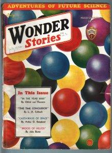 WONDER STORIES 1932 JUL-SCI FI PULP-FUTURISTIC VG