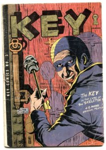 Key Comics #3 1945 Horror style cover - Obscure Golden-Age G-