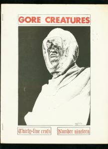 GORE CREATURES FANZINE #19 1971-LON CHANEY PUPPET-PHANTOM OF THE OPERA VG/FN