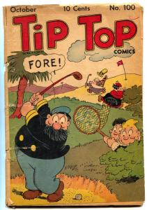 Tip Top Comics #100 1944- Captain and the Kids- Golf cover FAIR