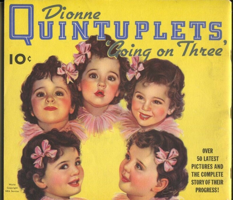 Dionne Quintuplets Going On Three-1936-Dell-pix & info-elusive pub-VG