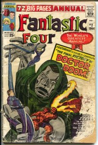 Fantastic Four Annual #2 1964-Marvel-rare variant-Dr Doom-Jack Kirby art-P/FR