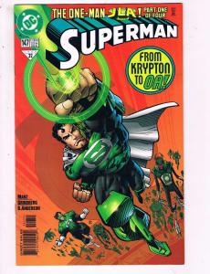 Superman #147 VF DC The One Man JLA Comic Book Marz Green Lantern 1999 DE10