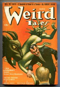 Weird Tales March 1942- Hannes Bok- Reanimator story by Lovecraft Pulp Magazine