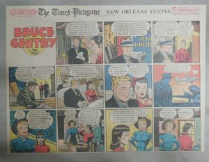Bruce Gentry Sunday page by Ray Bailey from 7/27/1947 Size: 11 x 15 inches