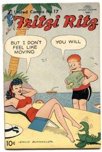 United Comics #17 1951- Fritzi Ritz -lobster cover G