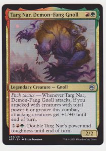 Magic the Gathering: Adventures in the Forgotten Realms- Targ Nar Demon-Fang Gno