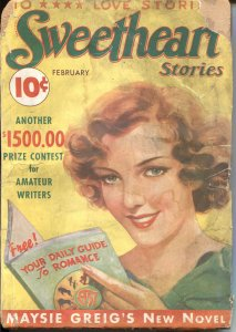 SWEETHEART STORIES-1937 FEB-REDHEAD ON COVER-SPICY PULP-RARE-NEW COLLECTION