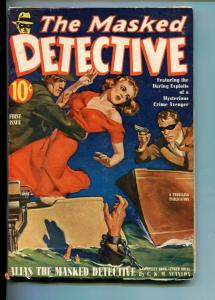 THE MASKED DETECTIVE-#1-FALL-1940-PULP-MYSTERY-SOUTHERN STATES PEDIGREE-fn