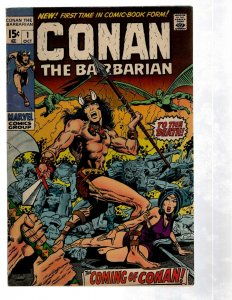 Conan The Barbarian # 1 VF Marvel Comic Book 1st Appearance Barry Smith Key PG2