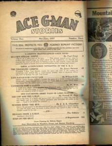 Ace G-Man Stories Pulp May 1937- coverless reading copy