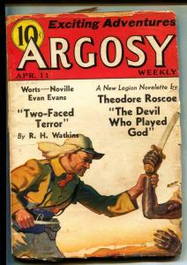 Argosy-Pulps-4/11/1936-Howard Ellis Davis-Theodore Roscoe